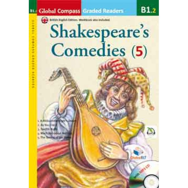 Graded Reader - Shakespeare Comedies with MP3 CD - Level B1.2