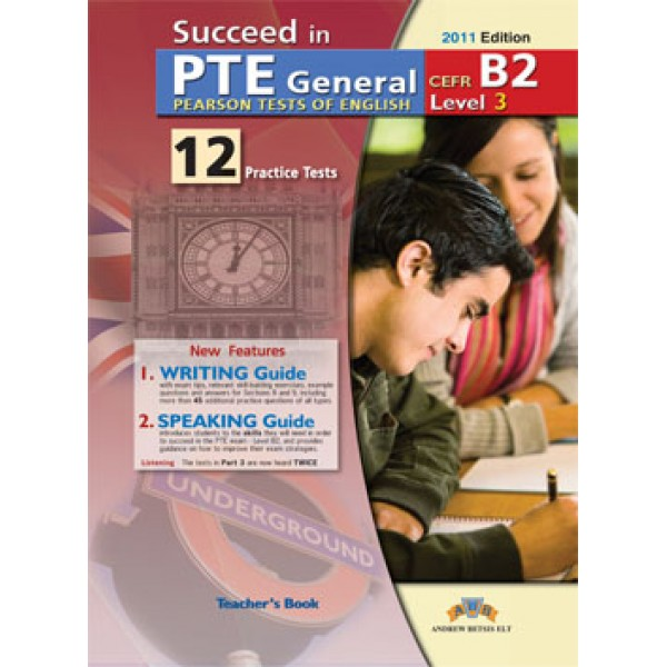 Succeed in PTE General Level 3 B2 - 12 Practice Tests Audio CDs