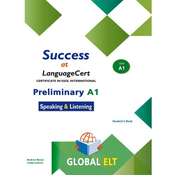 Success at LanguageCert A1 ESOL SELT Self-study Edition LanguageCert