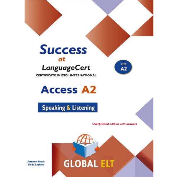 Success at LanguageCert A2 ESOL SELT Teacher's book LanguageCert