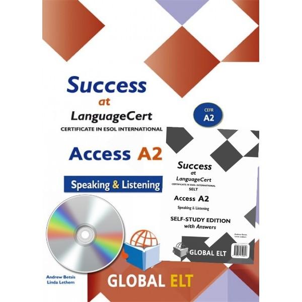 Success at LanguageCert A2 ESOL SELT Self-study Edition LanguageCert