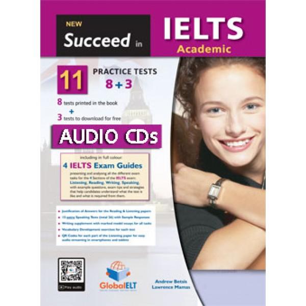 Succeed in IELTS Academic - 11 (8+3) Practice Tests Audio CDs